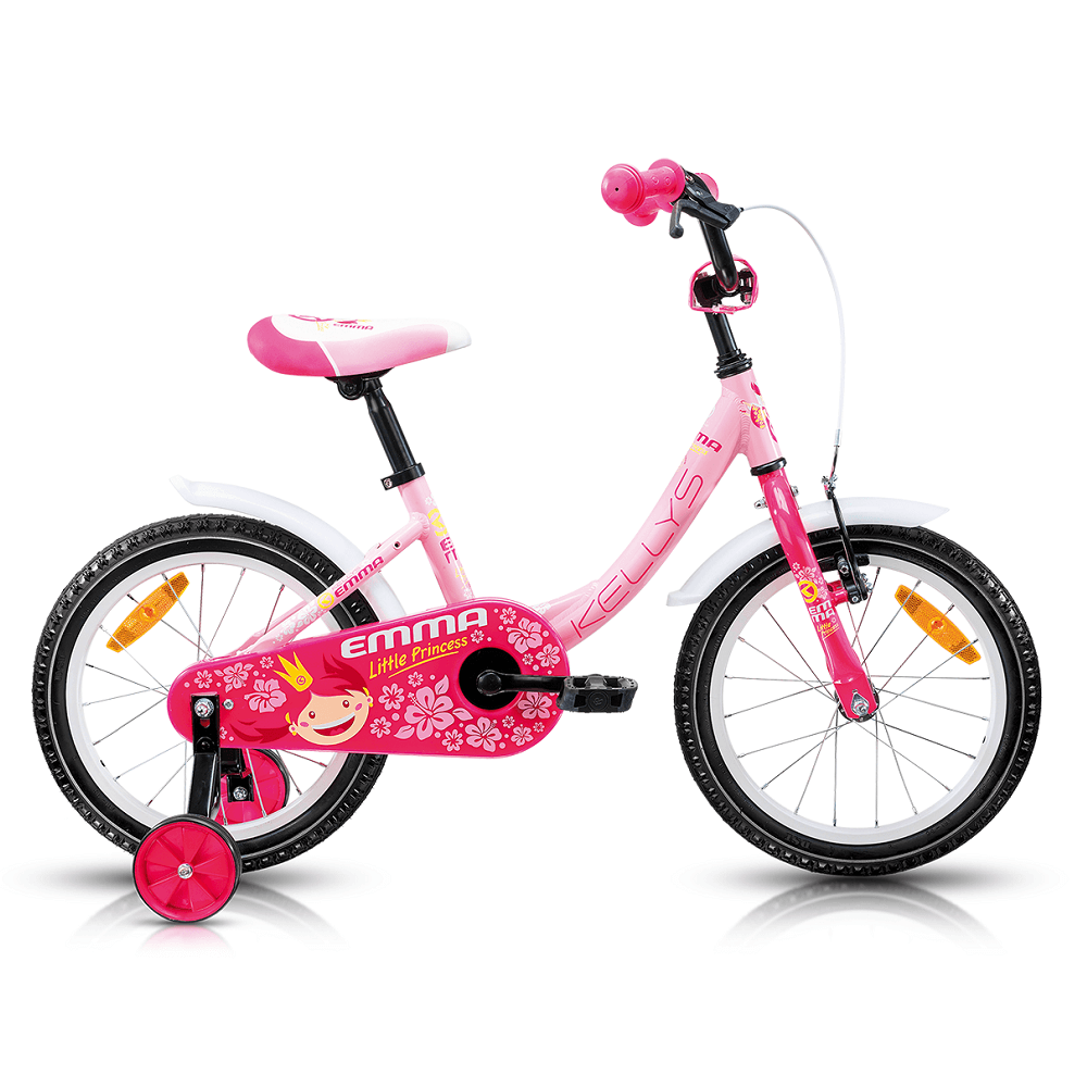 """Dětské kolo KELLYS EMMA 16"""" - model 2017 Pink - 240 mm (9,5"""") - Záruka 5 let"""