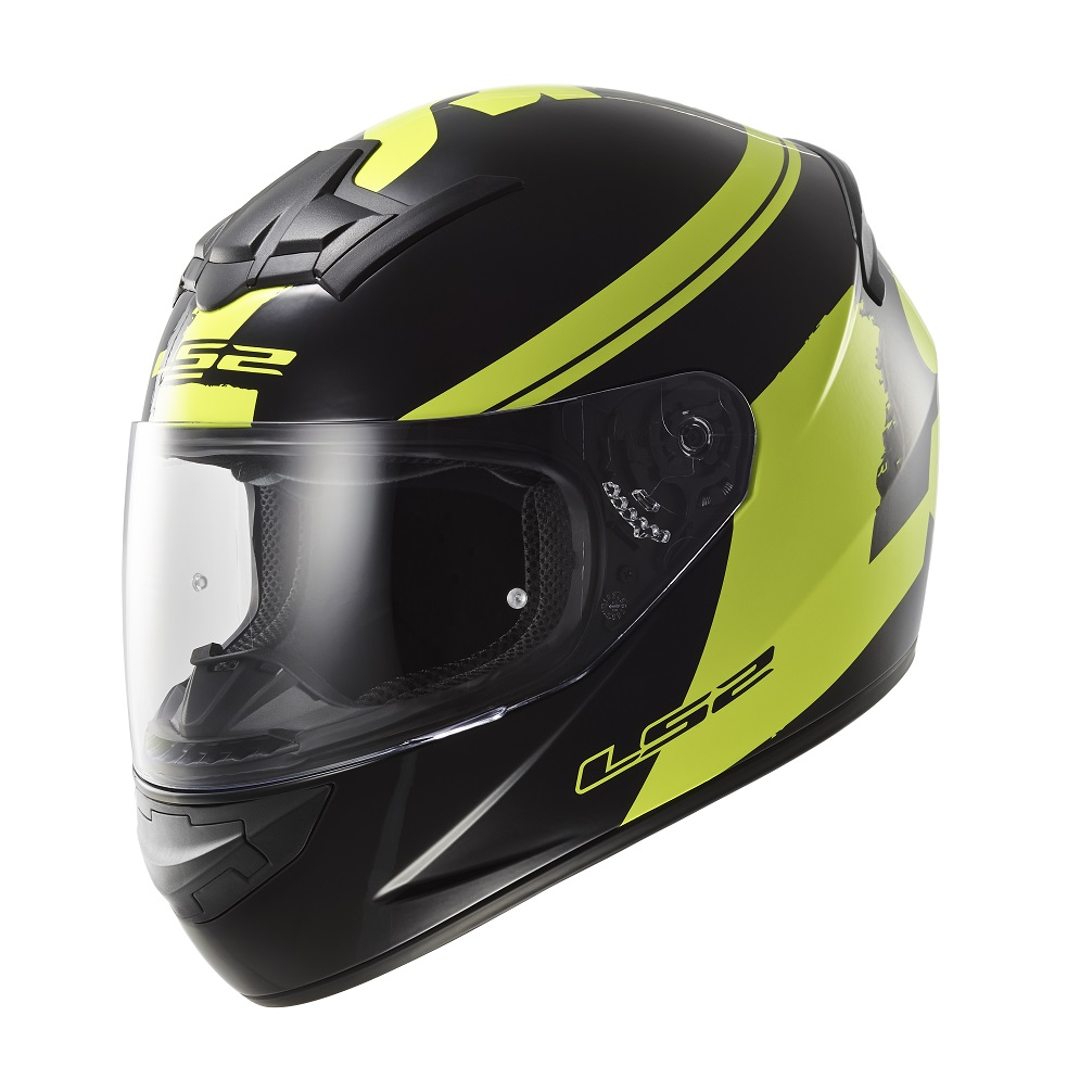LS2 FF352 Rookie Fluo BlackHiVis Yellow XXL 6364