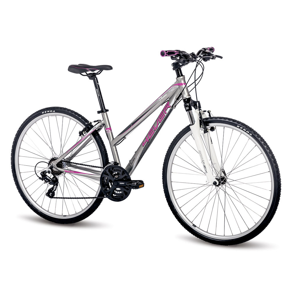 "Dámské crossové kolo 4EVER Flame 28"" - model 2016 růžovo-stříbrná - 16,5"""