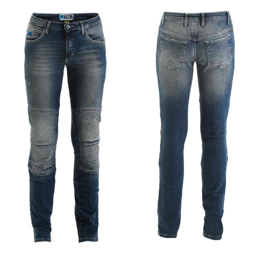 Dámské moto jeansy PMJ Florida MID modrá - 25