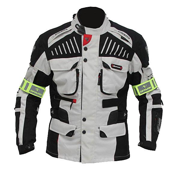 Moto bunda Spark GT Turismo světlá - M