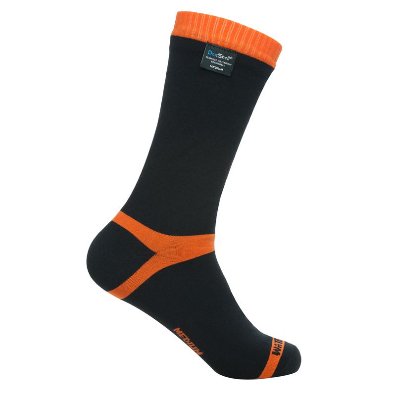 Nepromokavé ponožky DexShell Hytherm PRO Tangelo Red Stripe - S