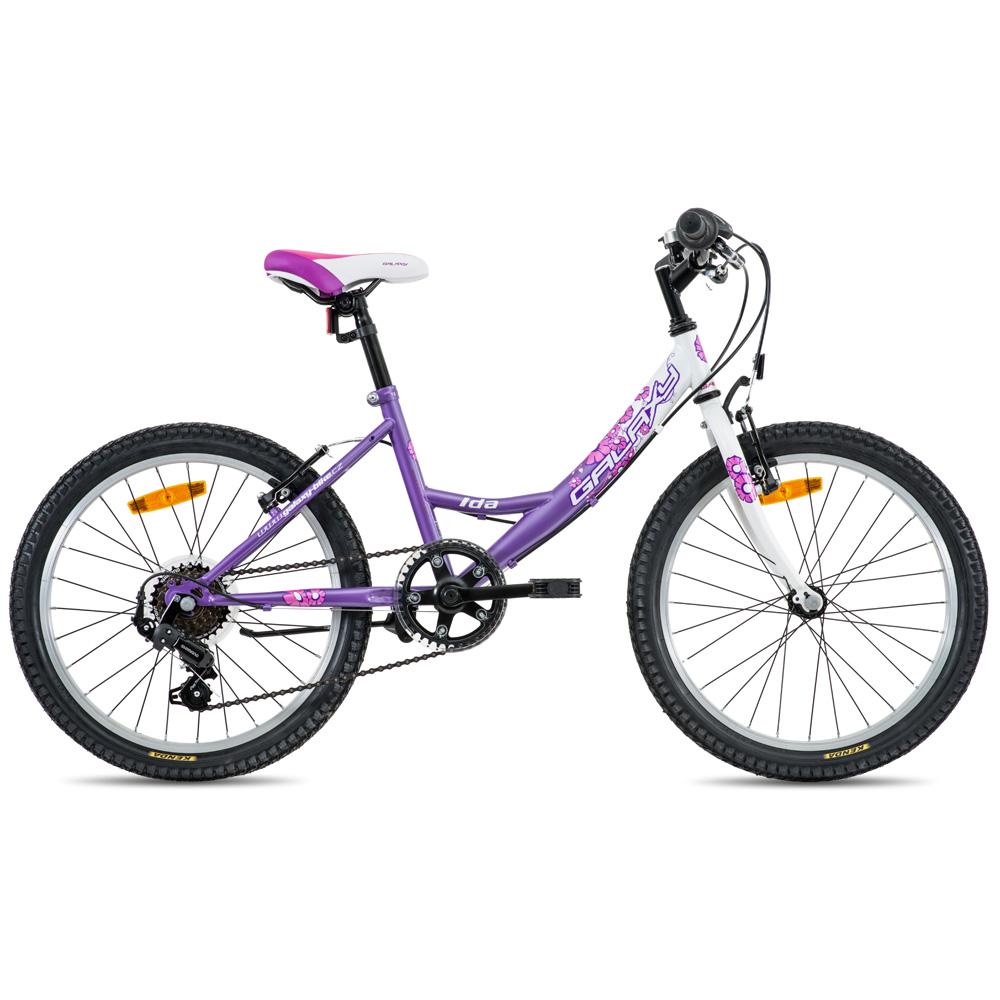 """Dětské dívčí kolo Galaxy Ida 20"""" - model 2016 fialovo-bílá - 10,5"""""""