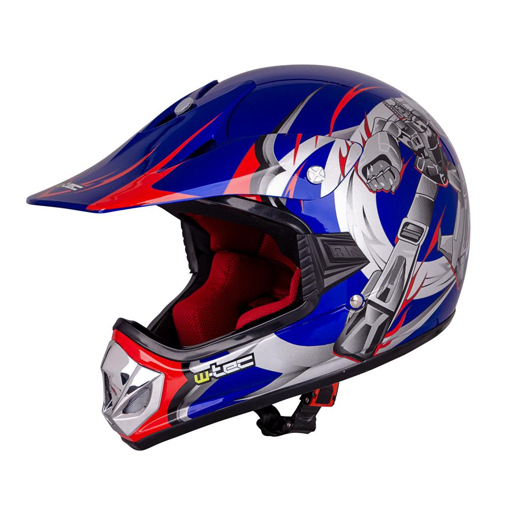 Dětská moto přilba W-TEC V310 Blue Transformers - S (49-50)