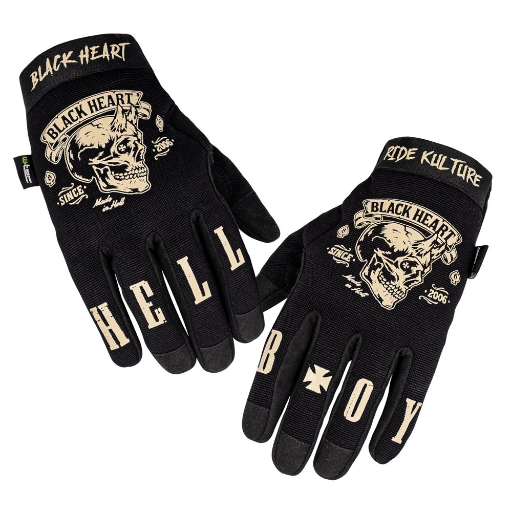 Moto rukavice W-TEC Black Heart Rioter černá - S