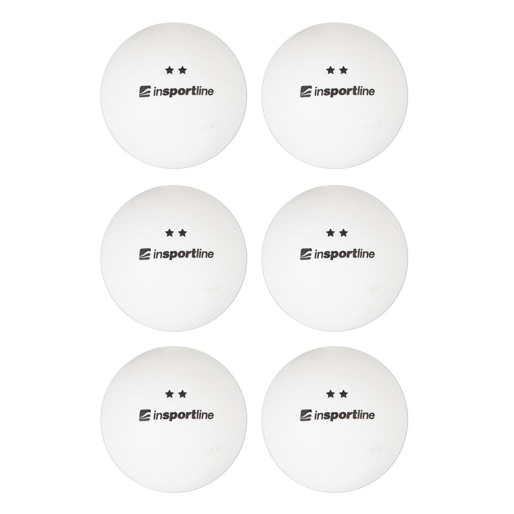 Pingpongové míčky inSPORTline Elisenda S2 6ks bílá