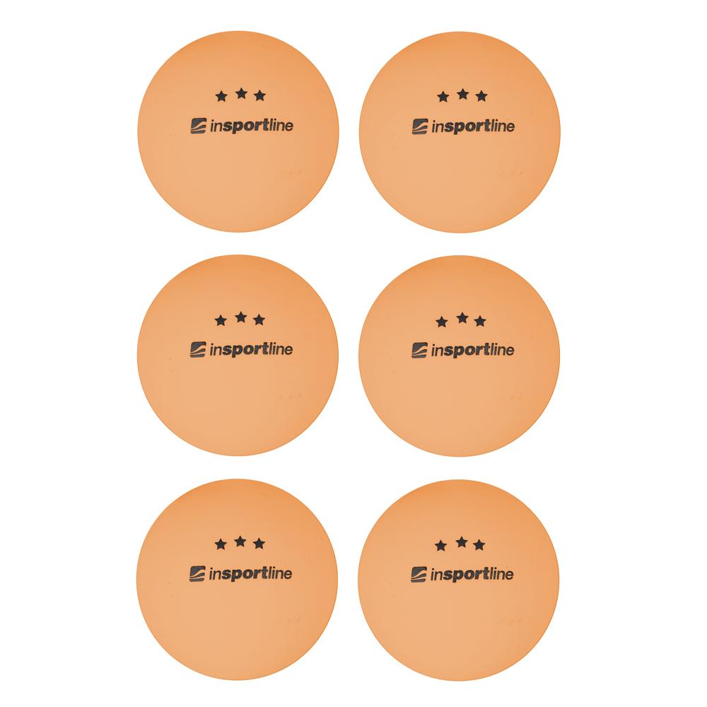 Pingpongové míčky inSPORTline Elisenda S3 6ks oranžová