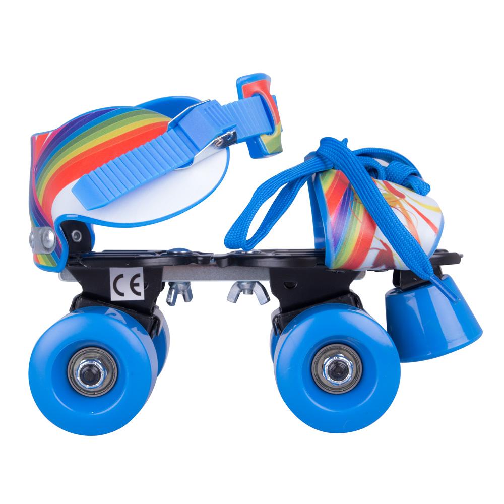 Nastavitelné dětské kolečkové brusle WORKER Garcetti Rainbow