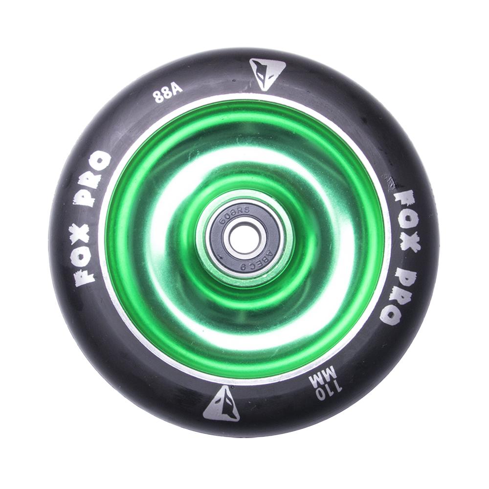 Náhradní kolečko pro koloběžku FOX PRO Raw 110 mm černo-zelená II