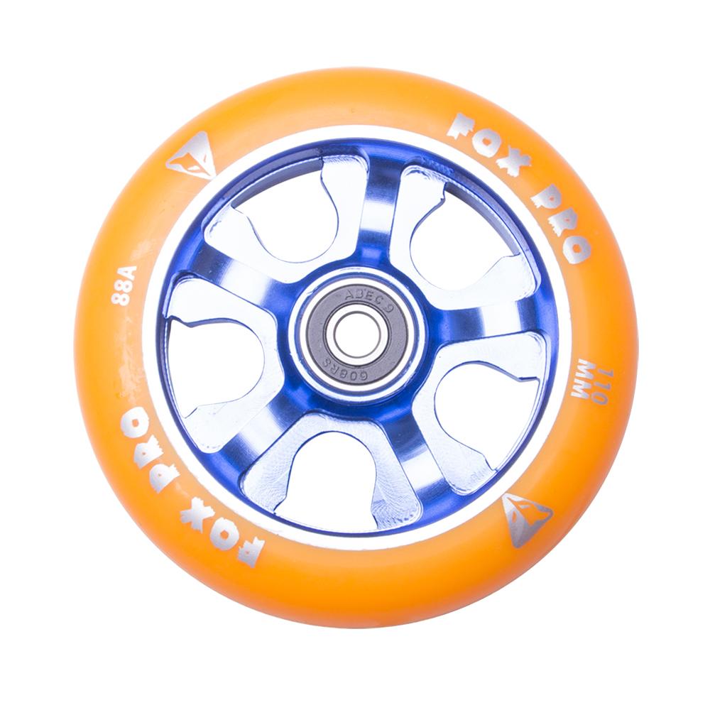 Náhradní kolečko pro koloběžku FOX PRO Raw 110 mm oranžovo-modrá