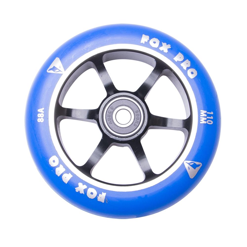 Náhradní kolečko pro koloběžku FOX PRO Raw 110 mm modro-černá II
