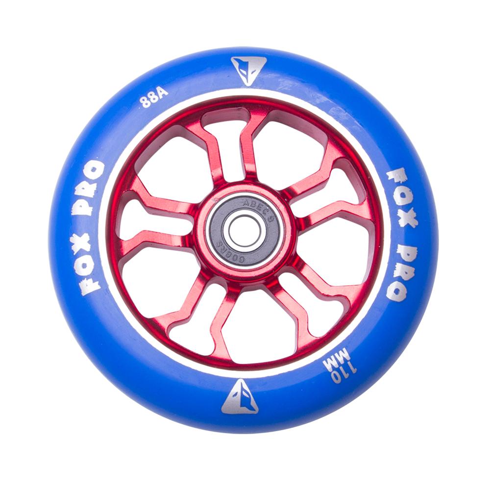 Náhradní kolečko pro koloběžku FOX PRO Raw 110 mm modro-červená