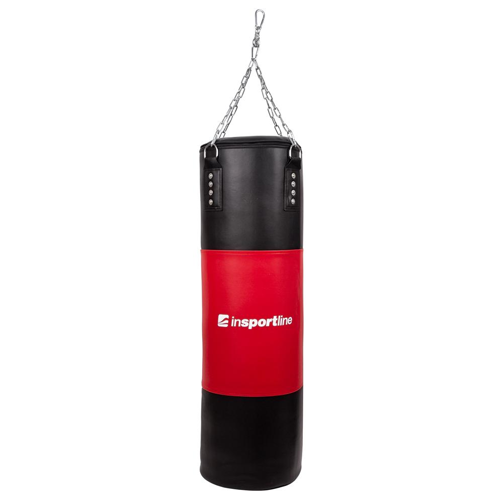 Plnící boxovací pytel inSPORTline 50-100kg černo-červená
