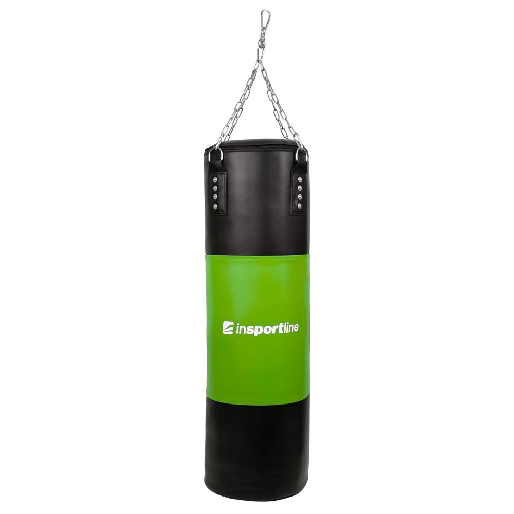 Plnící boxovací pytel inSPORTline 40-80kg černo-zelená