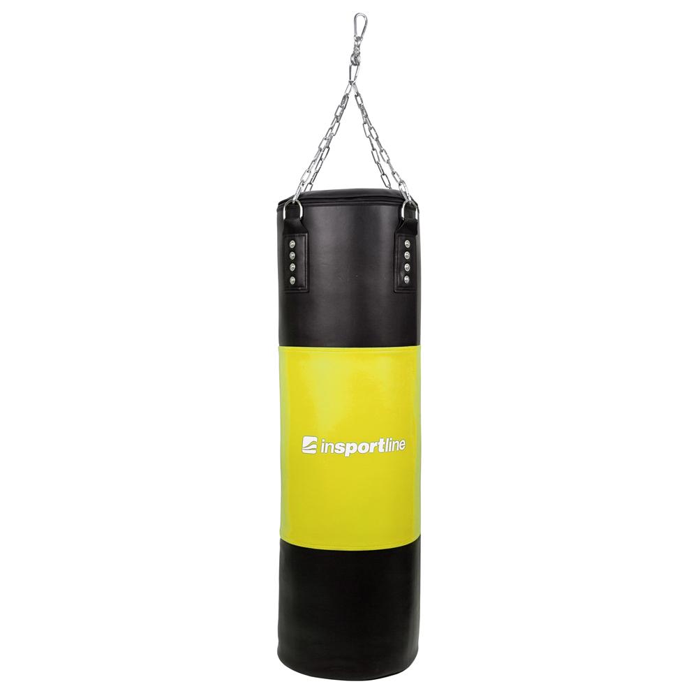 Plnící boxovací pytel inSPORTline 50-100kg černo-žlutá