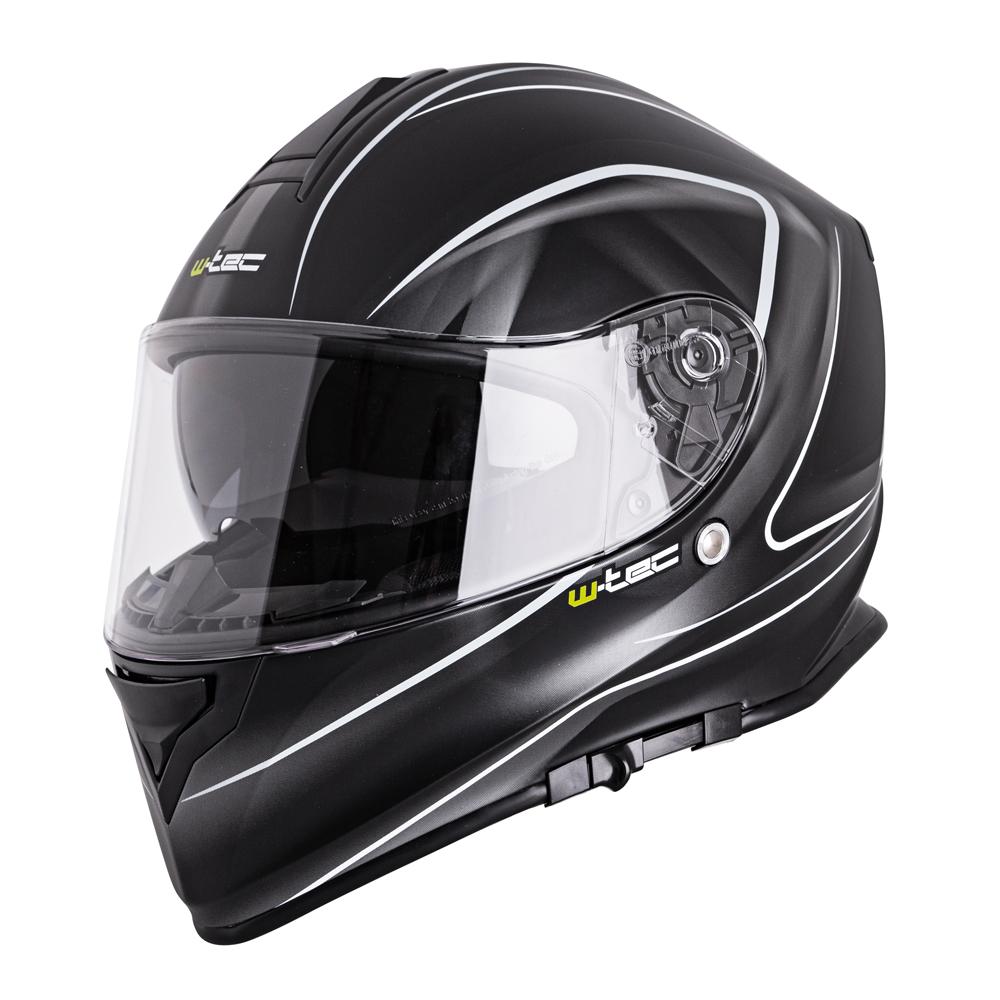 Moto helma W-TEC V127 černá s grafikou - XS (53-54)
