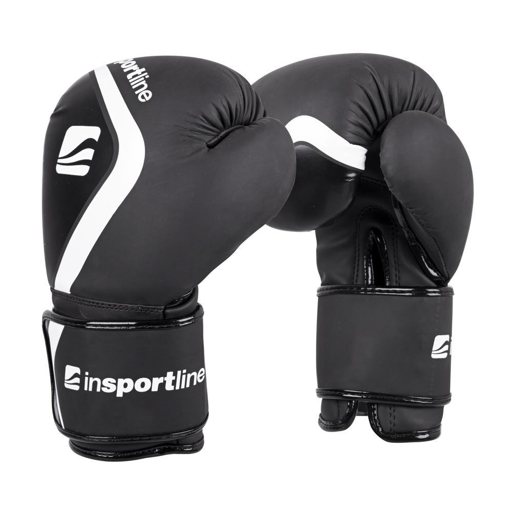 Boxerské rukavice inSPORTline Shormag černá - 4oz