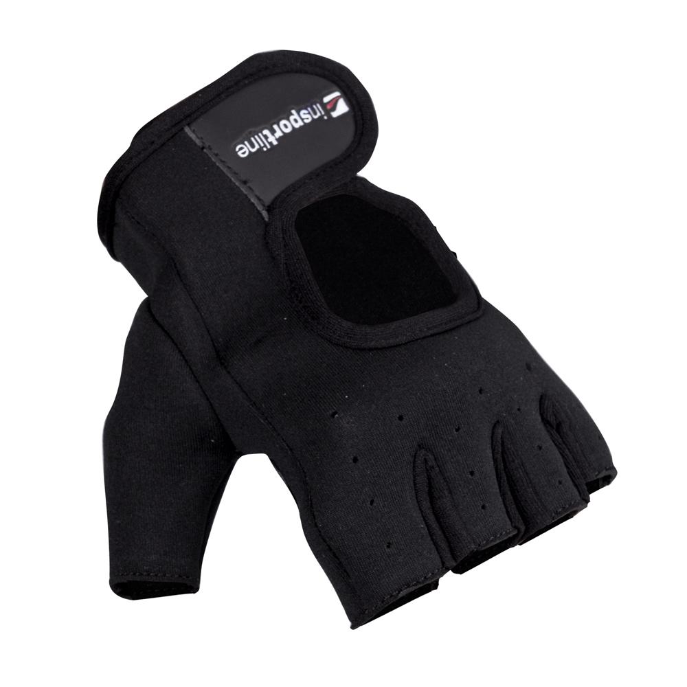Neoprenové fitness rukavice inSPORTline Aktenvero černá - L