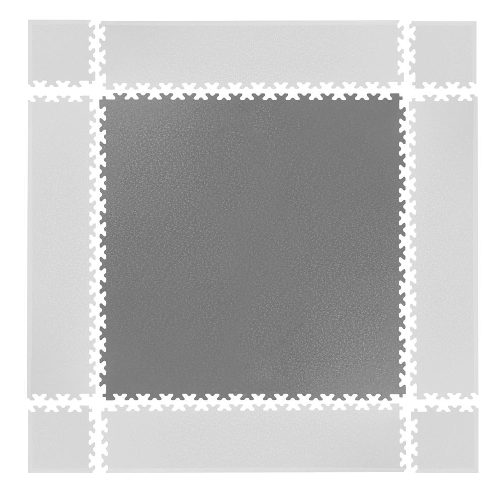 Puzzle zátěžová podložka inSPORTline Simple šedá