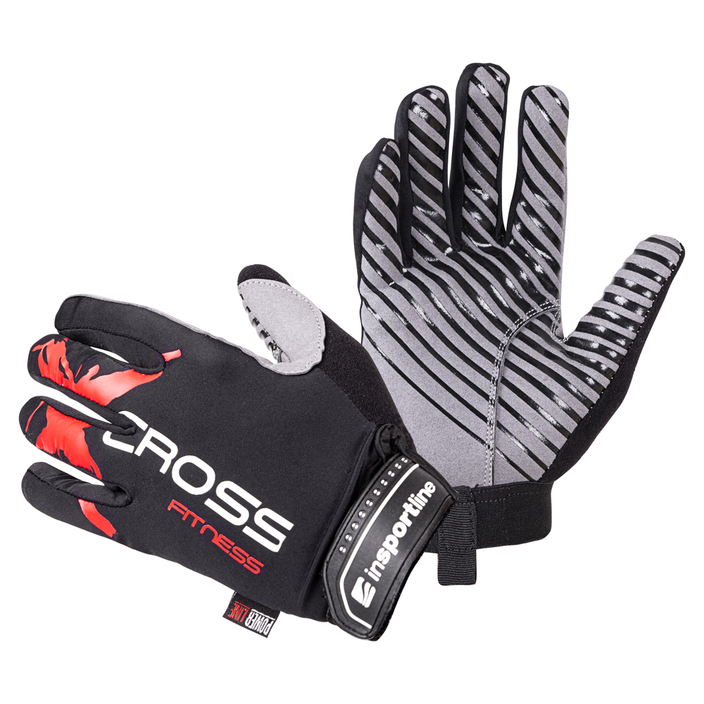 Fitness rukavice inSPORTline Freso  černo-červená  S