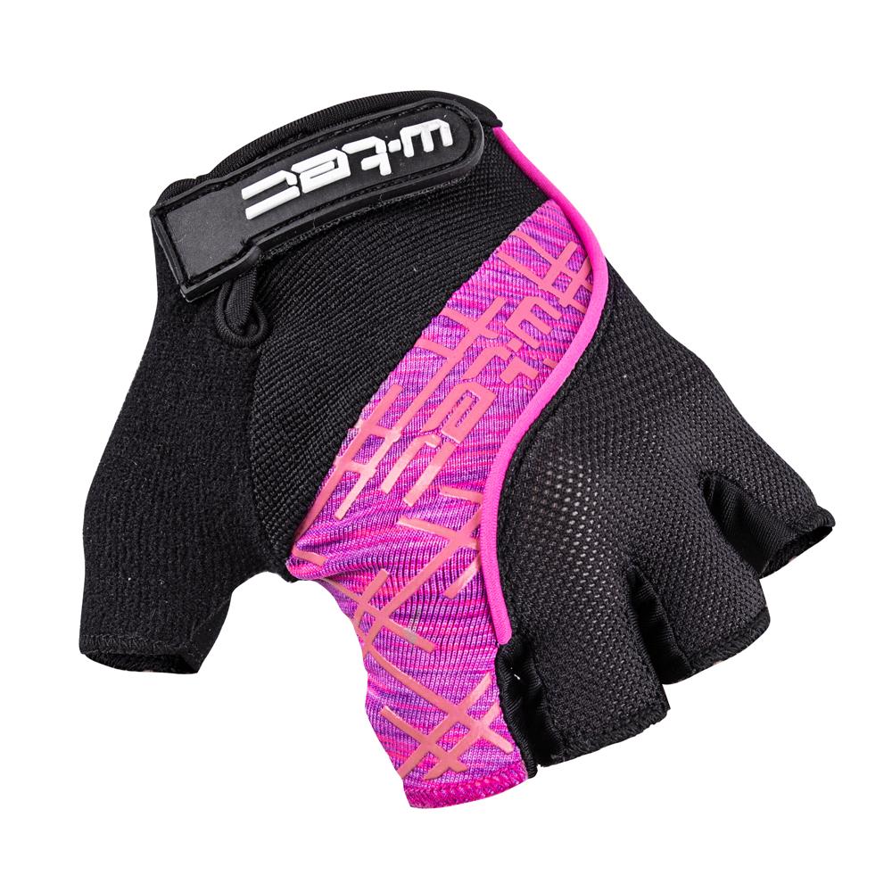 Cyklo rukavice W-TEC Karolea AMC-1022-18 černo-růžová - XS