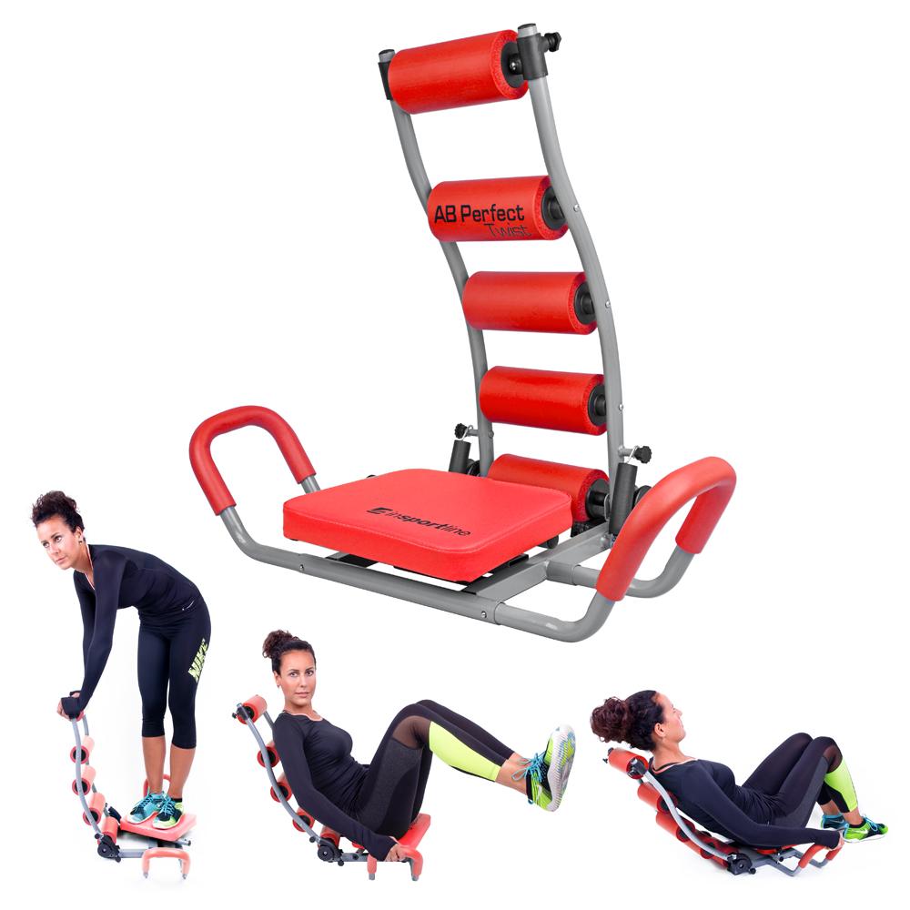 Posilovač břišních svalů inSPORTline AB Perfect Twist červená