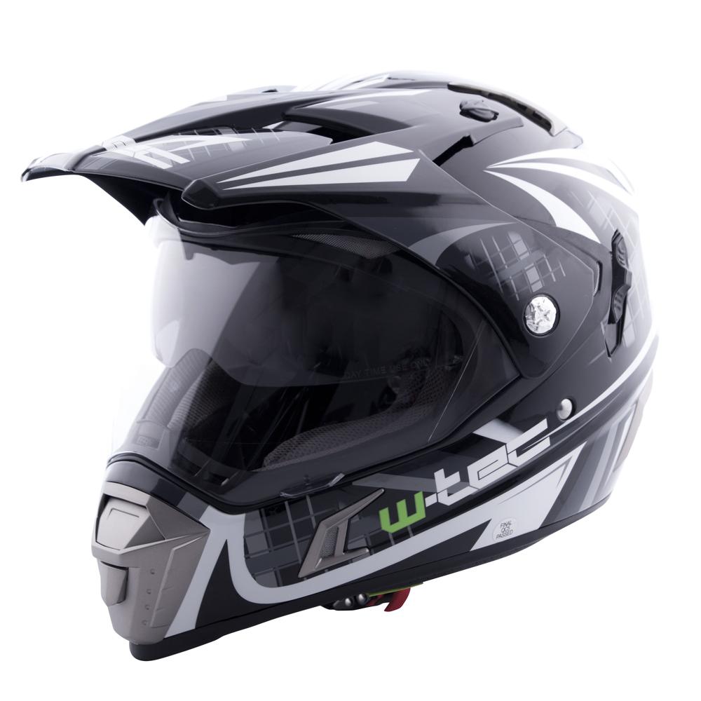 Moto přilba W-TEC NK-311 Cube Black Grey - XXL (63-64)