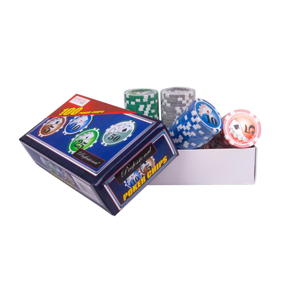 Žetony na poker Spartan Professional Poker Chips 100