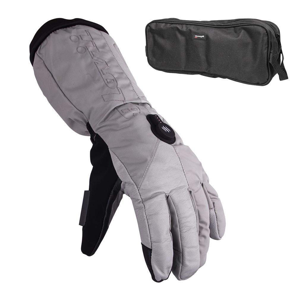 Vyhřívané lyžařské a moto rukavice Glovii GS8 šedá - L 772967f543