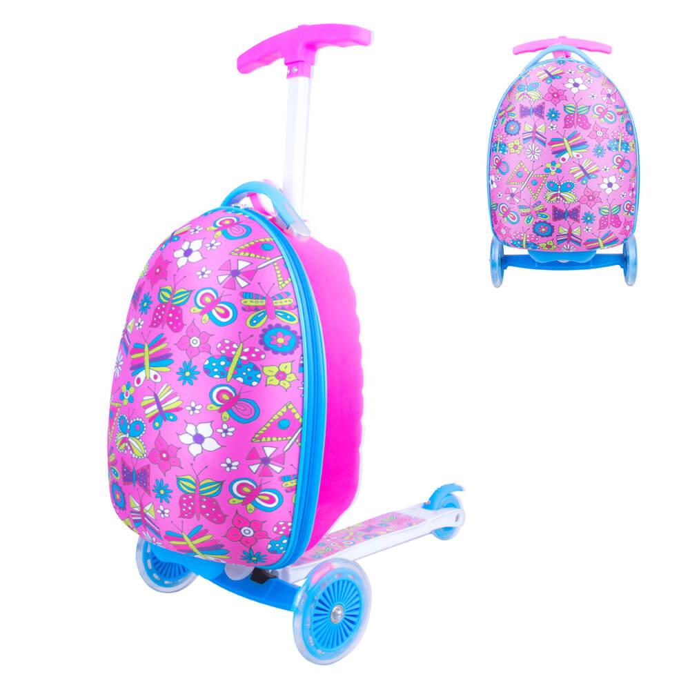 Dětská koloběžka s kufříkem WORKER Lagy růžová