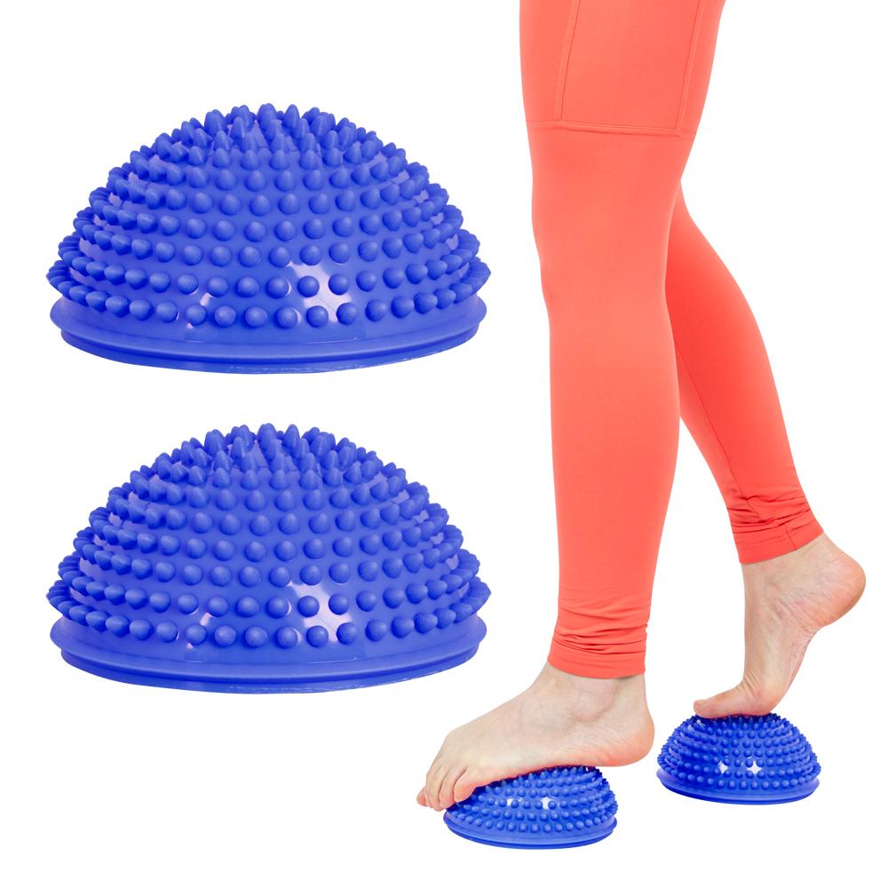 Balanční a masážní podložka na chodidla inSPORTline Uossia modrá
