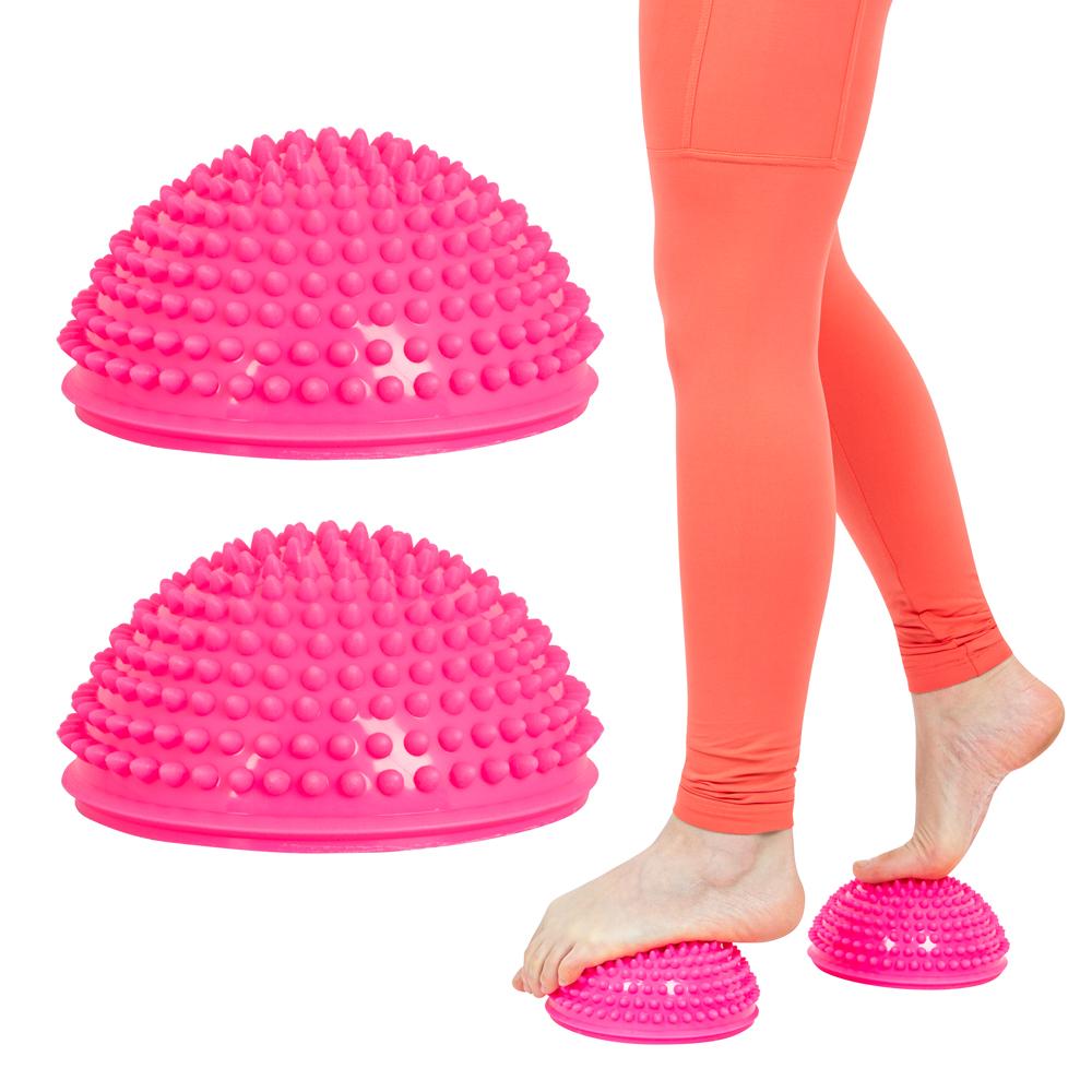 Balanční a masážní podložka na chodidla inSPORTline Uossia růžová