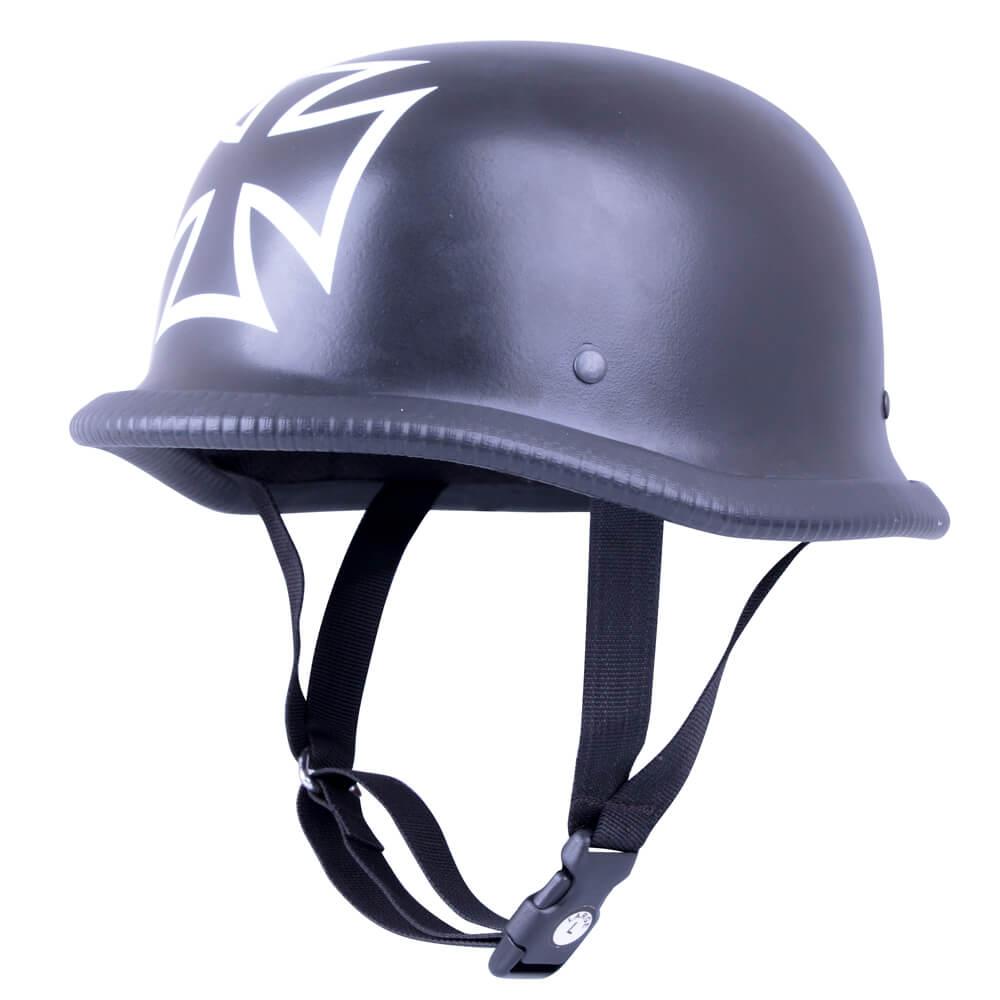 Retro otevřená moto helma Sodager Iron Cross L (59-60)
