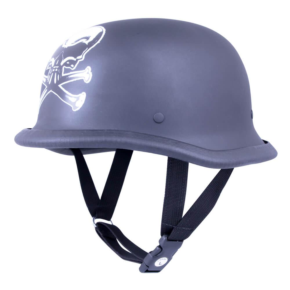 Retro otevřená moto helma Sodager Dead Head L (59-60)