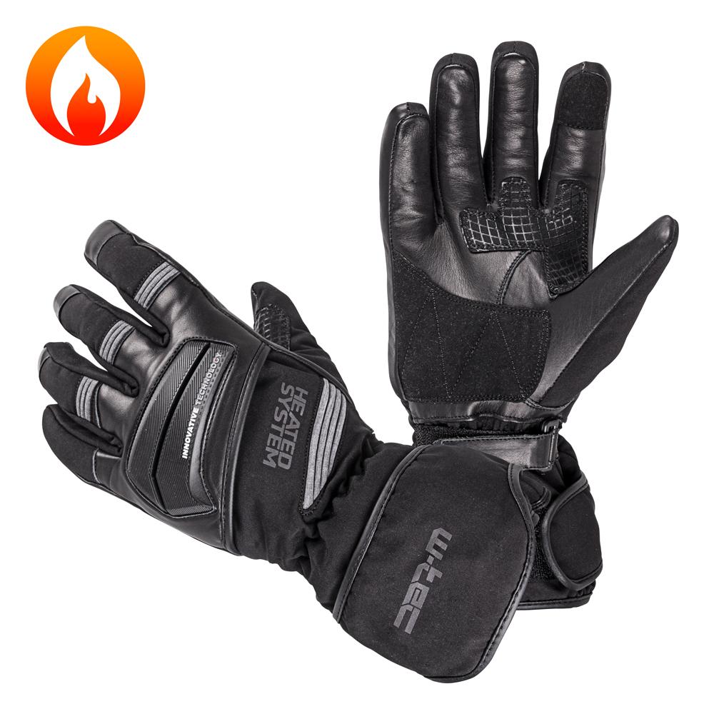 Vyhřívané rukavice W-TEC HEATston šedá - XS