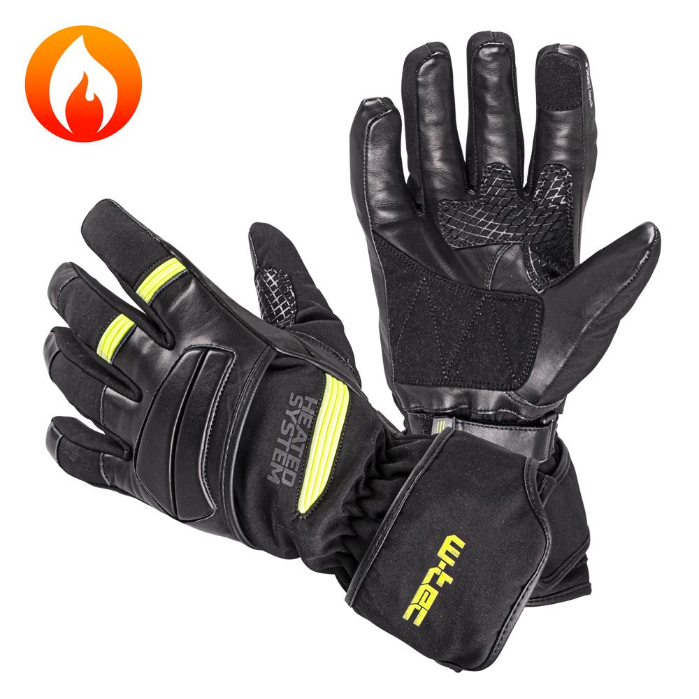 Vyhřívané rukavice W-TEC HEATride zelená - XS