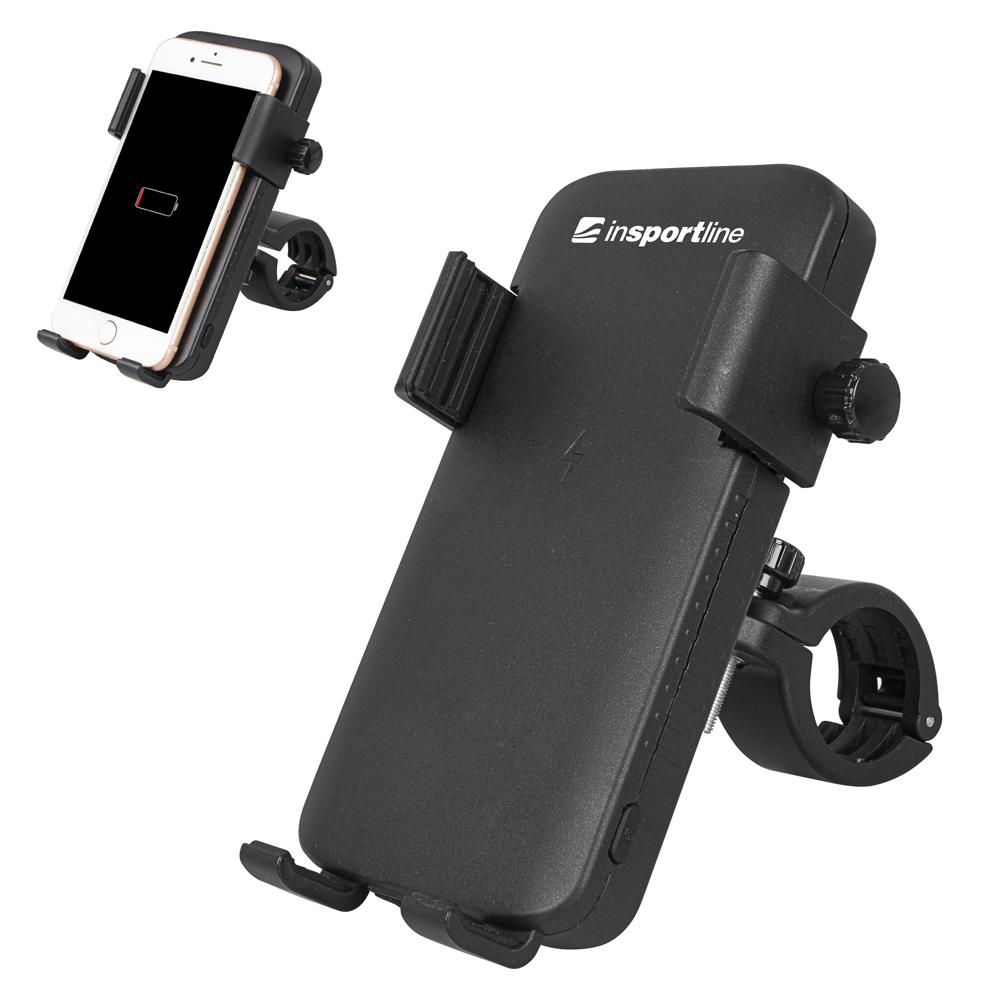 Držák telefonu s wireless powerbankou/světlem inSPORTline Hardmona 5000 mAh