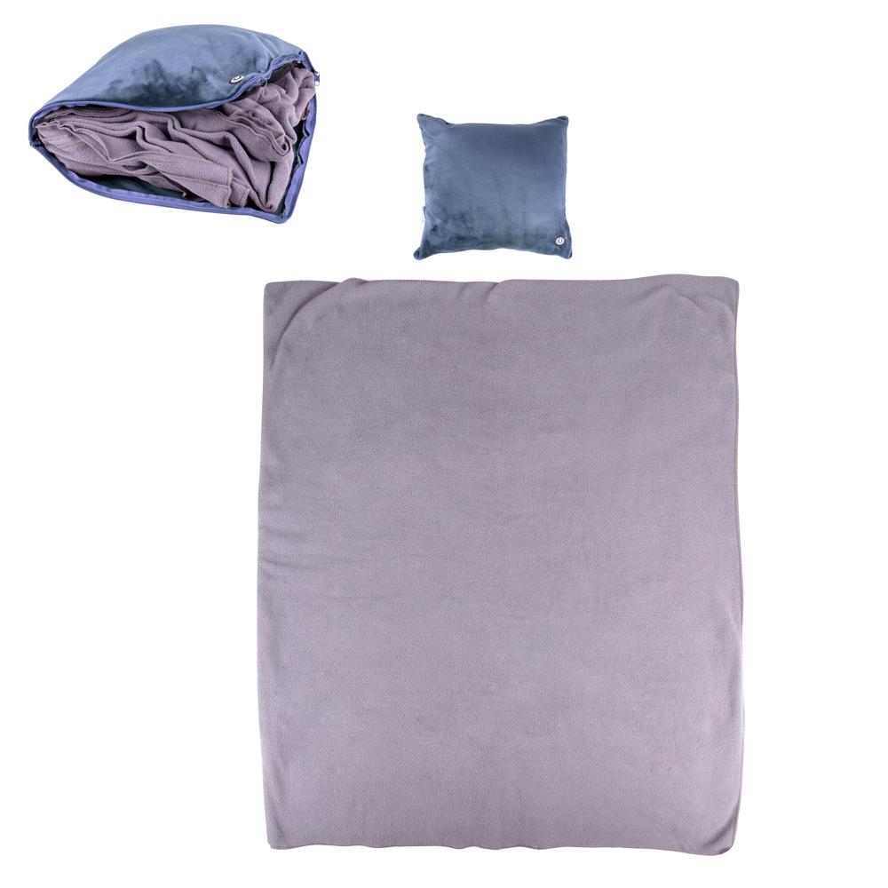 Masážní polštář a deka inSPORTline Trawel tmavě modrá