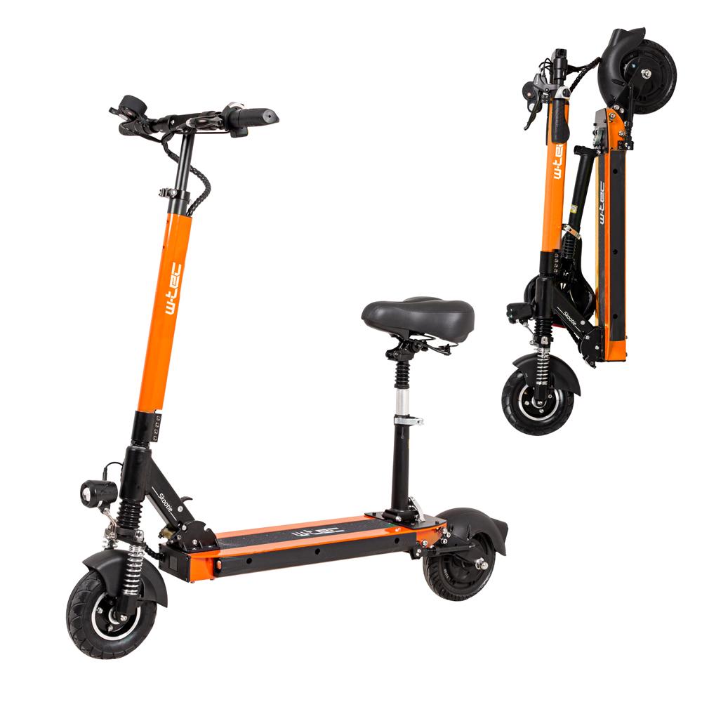 """Elektrická koloběžka W-TEC Skootie Pro II 8"""" se sedlem oranžová"""