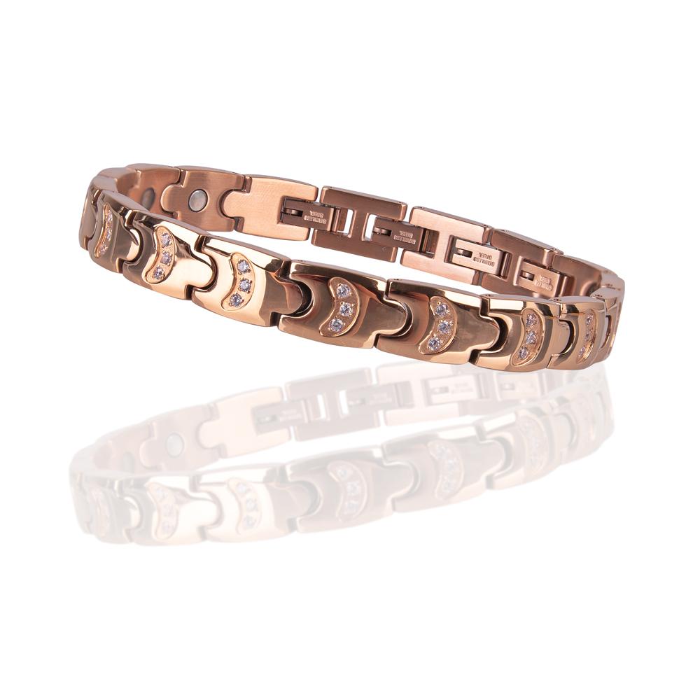 Magnetický náramek inSPORTline Rosila růžové zlato