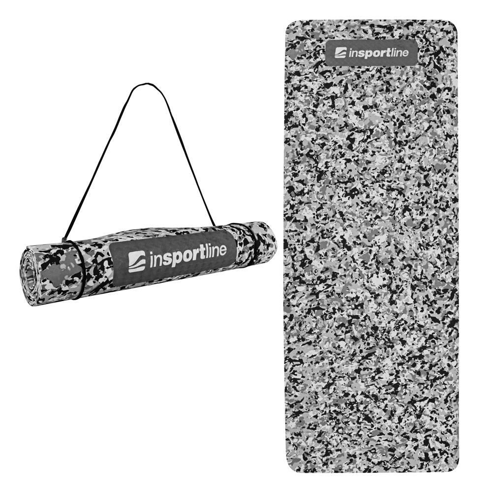 Podložka na cvičení inSPORTline Camu 173x61x0,4 cm šedý maskáč