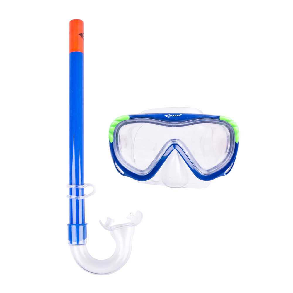 Sada na potápění Escubia Turtle Kid Set modrá