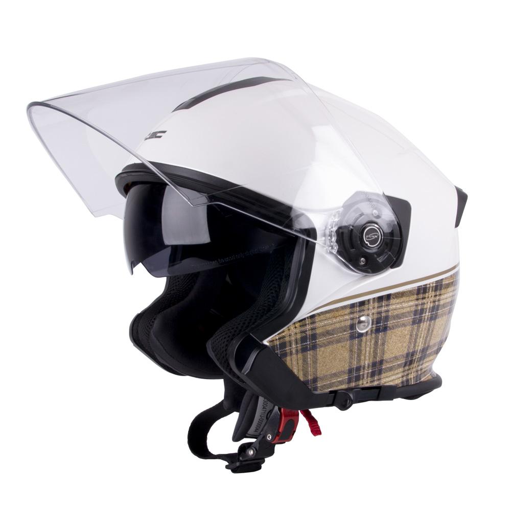 Moto helma W-TEC V586 bílá perleť - XS (54)