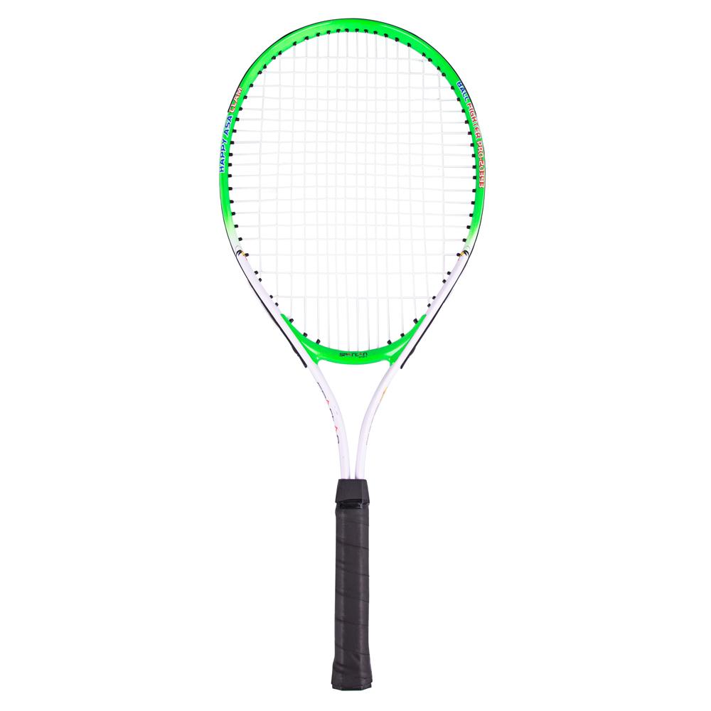 Dětská tenisová raketa Spartan Alu 64 cm bílo-zelená