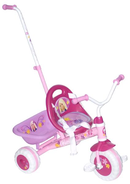 Dětská Barbie tříkolka s vodící tyčí