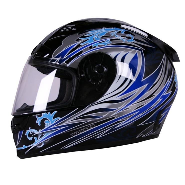 Moto helma WORKER V192 modrá - XS (54)