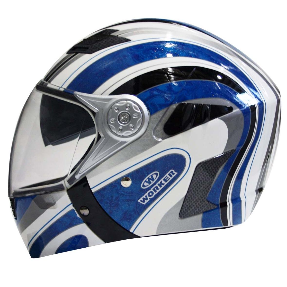 Moto helma WORKER V220 modrá - XL (61-62)