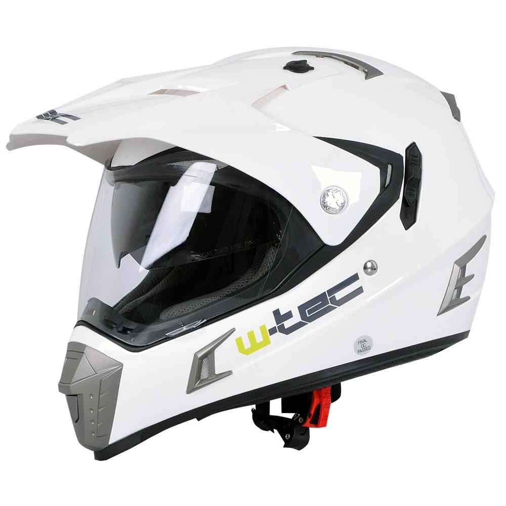 Moto přilba W-TEC NK-311 White Shine - XXL (63-64)