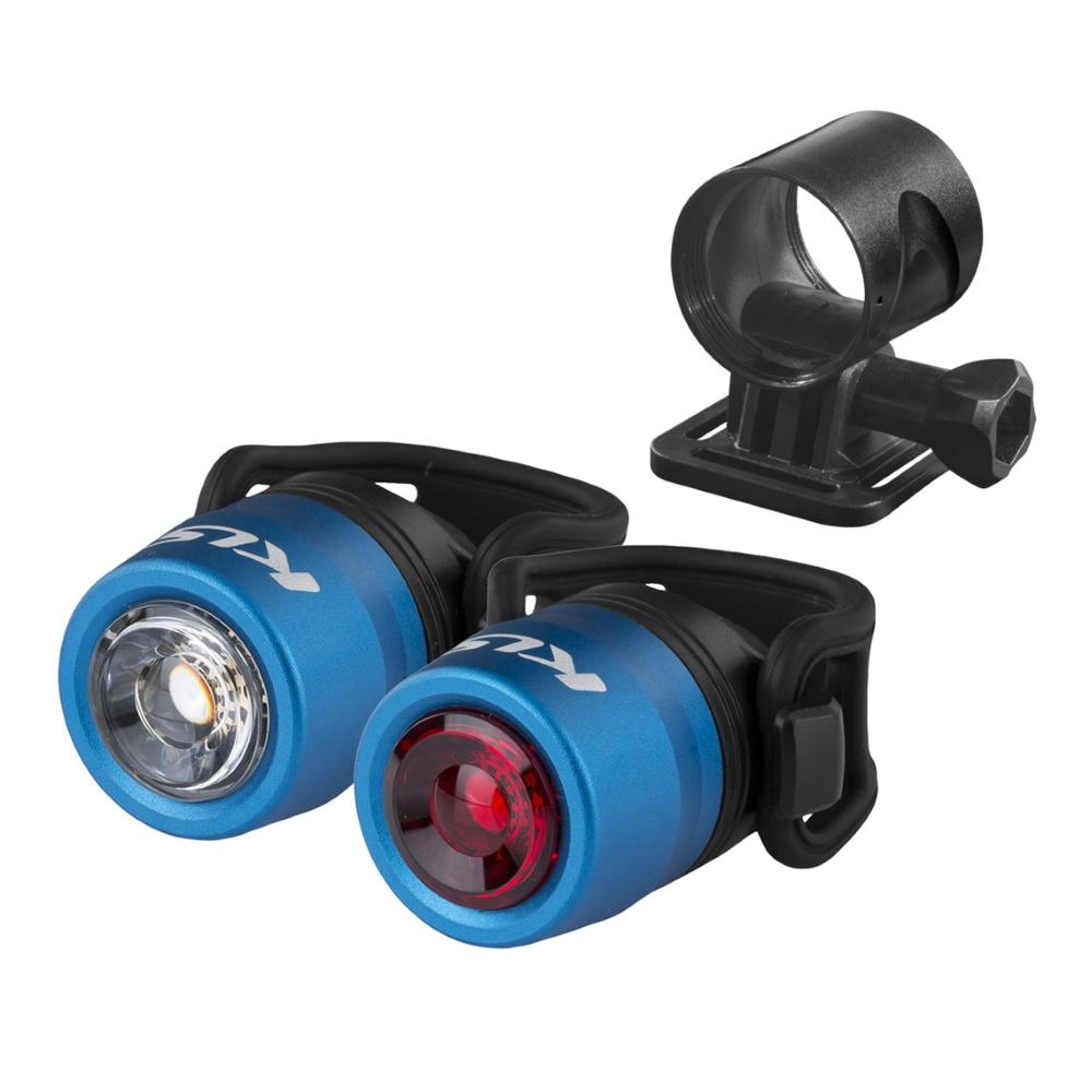 Sada osvětlení Kellys IO USB Set Blue