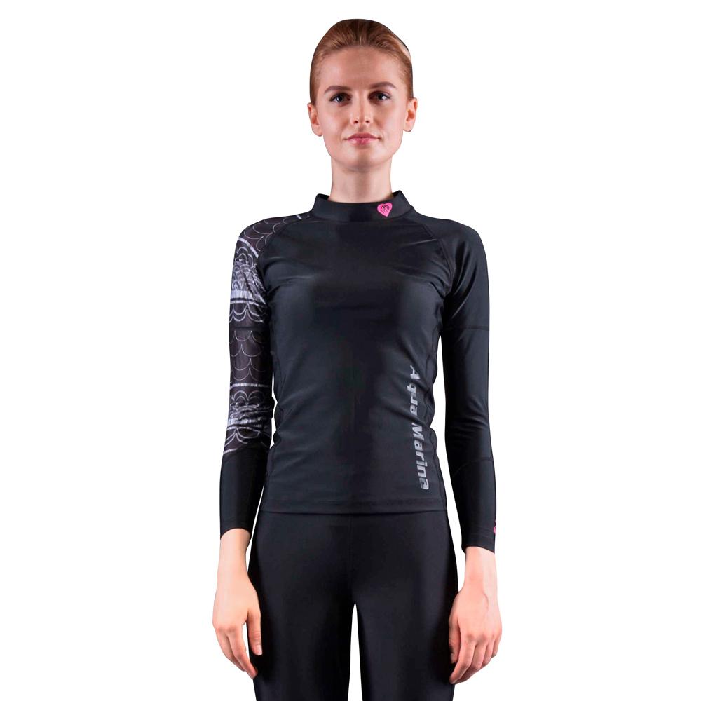 Dámské tričko pro vodní sporty Aqua Marina Illusion černá - L